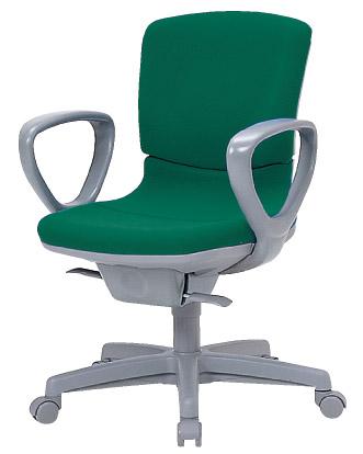 エコアシストチェア 【 EC-700 】 【 ミドルバック 】 【 リング固定肘 】 【 選べる張地 全6色 布張り 】 【 樹脂脚 】 【 選べるキャスター 全2タイプ 】 エコアシスト チェア 事務用回転椅子 ビジネスチェア オフィスチェア パソコンチェア デスクチェア OAチェア