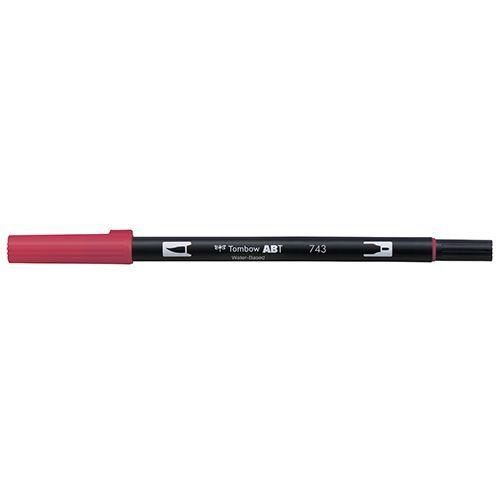 日時指定 特売 トンボ鉛筆 デュアルブラッシュペンABT 743 Hot Pink ホットピンク