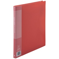 クリアーブック20P メーカー再生品 A4S赤10冊 新商品!新型 D047J-10RD