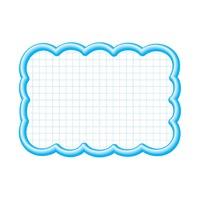 抜型カード 16-4197 雲形大 ブルー