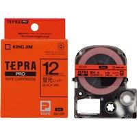 テプラPROテープSK12R 25%OFF 蛍光赤に黒文字 贈答品 12mm