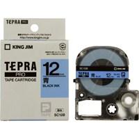 国内即発送 テプラPROテープ 現品 SC12B 青に黒文字 12mm