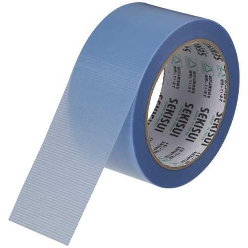 【J-343465】【セキスイ】マスクライトテープ 50mm×25m 青 30巻【梱包・包装】