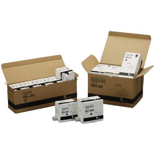 【J-279564】【ノーブランド】軽印刷機汎用インク RH-1000 黒 5本【インクカートリッジ】