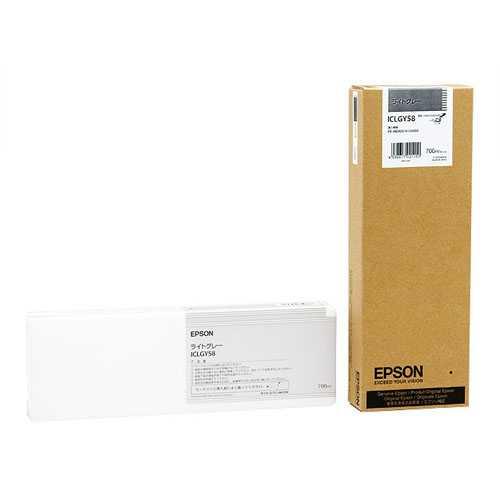 【J-367430】【エプソン】大判インクカートリッジICLGY58 Lグレー【インクカートリッジ】