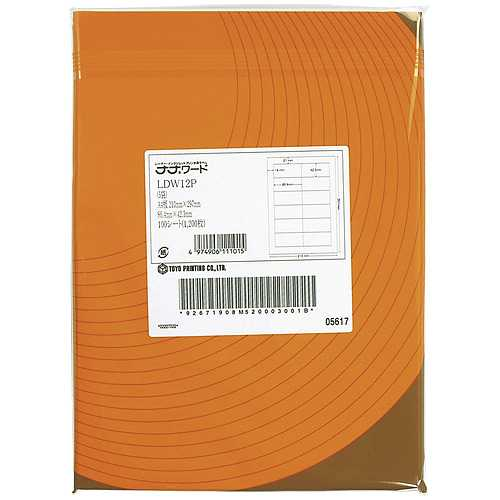 【J-178301】【東洋印刷】ナナワードラベル LEZ24U B4/24面 500枚【コピー用紙】
