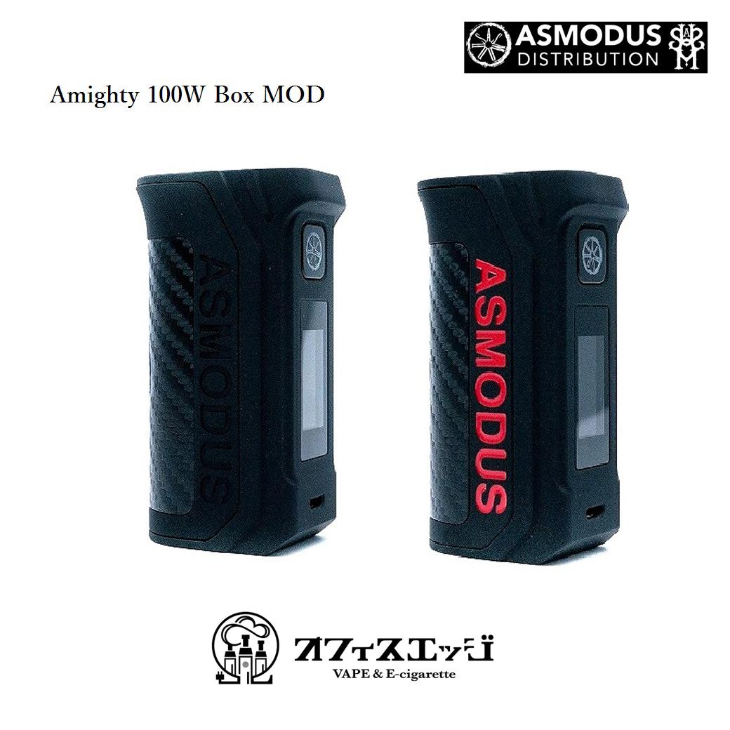ASMODUS AMIGHTY 100W BOX MOD アスモダスシングル mod アマイティオールマイティ MOD vape mod  electron cigarette body [L-2]