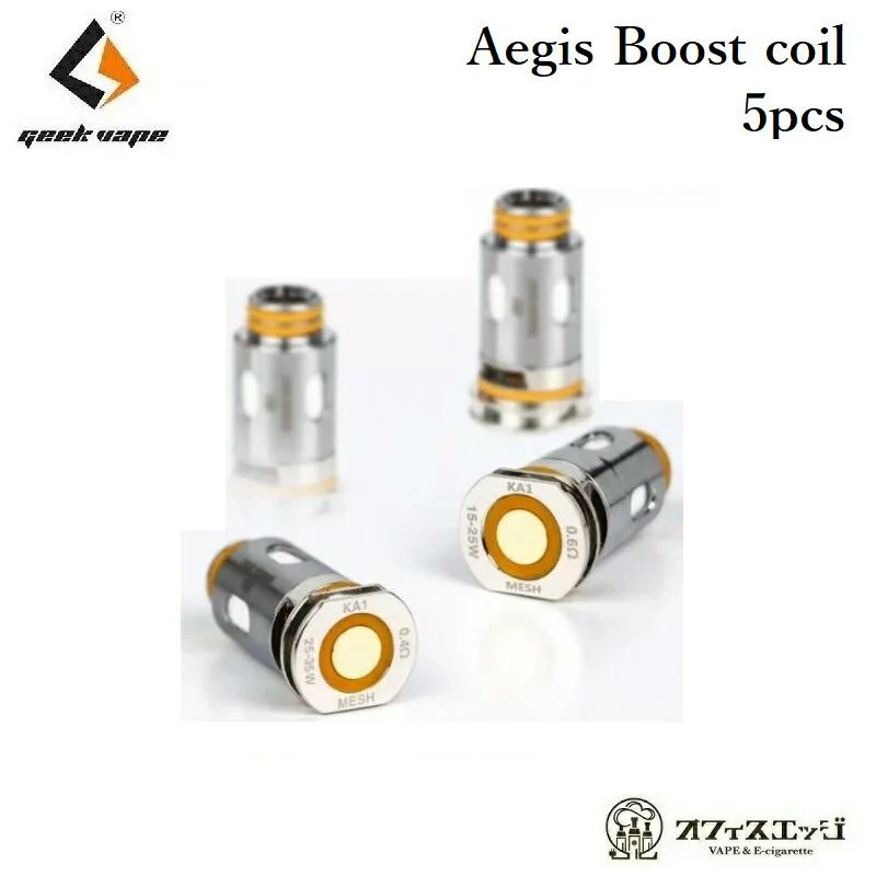 Geekvape Aegis Boost Replacement Coil 5個入り Pod Mod kit 交換用コイル スペアコイル イージス スペア ブースト coil vape 予約販売 電子タバコ ベイプ 爆買い送料無料 H-16 コイル ギークベイプ