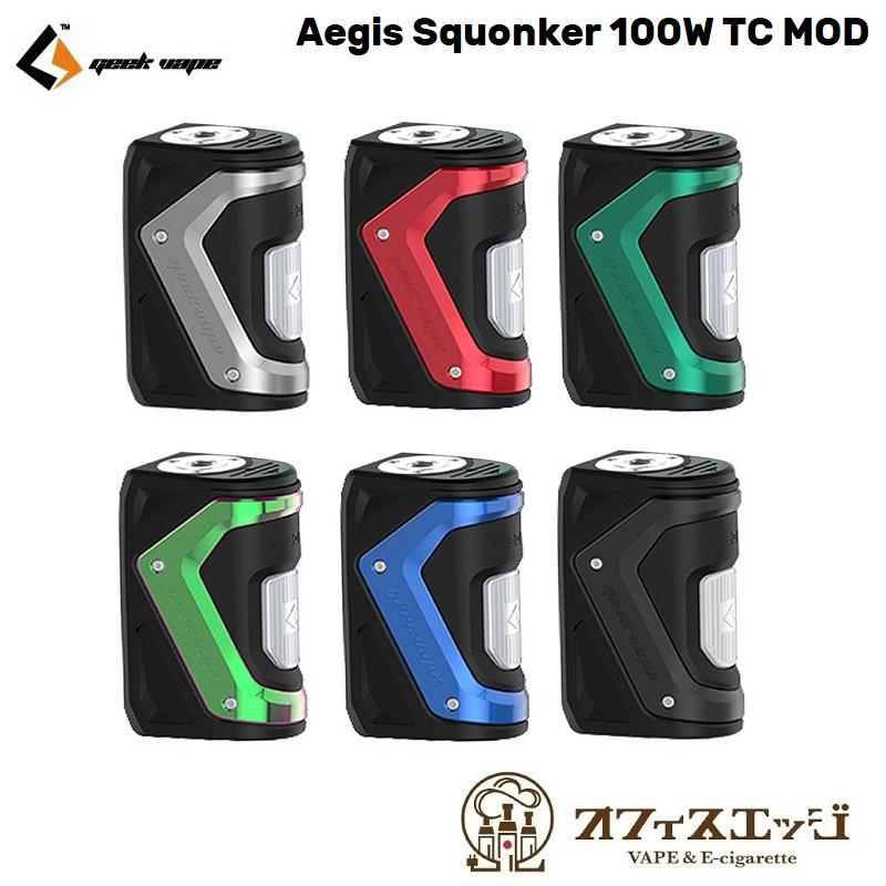 新着商品 GeekVape Aegis Squonker 100W TC MOD 【本体のみ】BF イージス スコンカー スコンク ギークベイプ MOD mod 本体 vape ベイプ 電子タバコ [W-16宅配便]