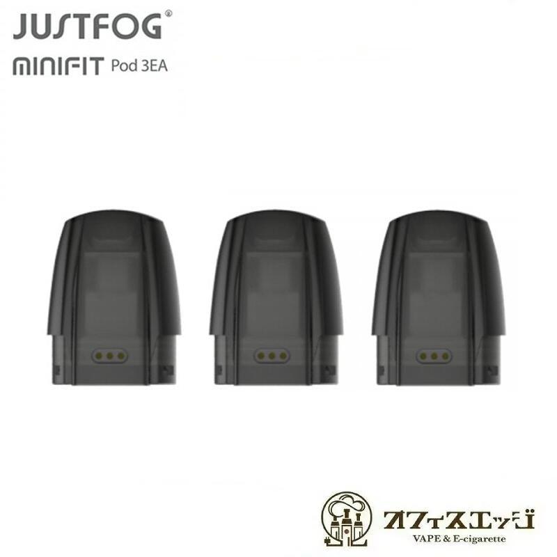 ミニフィット用PODカートリッジ 3個入り JUSTFOG Mini FIT 交換用PODカートリッジ ミニフィット ジャストフォグ ベイプ pod minifit 2020 新作 K-16 プレゼント KIT ポット 電子タバコ vape