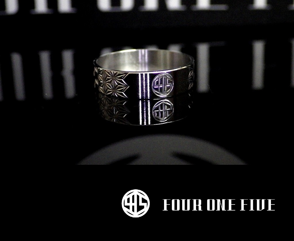 FOUR ONE FIVE MOD 415RING-japan hemp pattern- スラントリング フォーワンファイブ made in japan