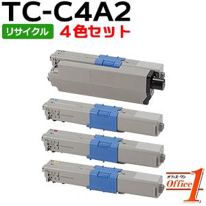 【スーパーSALE期間 20%OFF特価】 【即納品】【4色セット】TC-C4AK2 TC-C4AC2 TC-C4AM2 TC-C4AY2 (TC-C4A1の大容量) リサイクルトナーカートリッジ 【沖縄・離島 お届け不可】