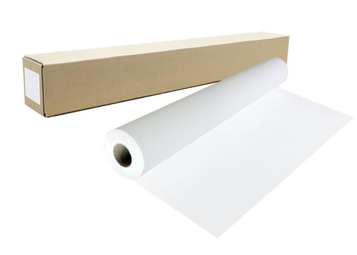 インクジェットロール紙 マット塩ビ/グレー糊付幅1270mm×長さ30m 厚0.12mm