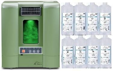 森林浴成分フィトンチッド拡散機PC560GRグリーン(最高級エキスパート溶液合計8本のスペシャルセット)