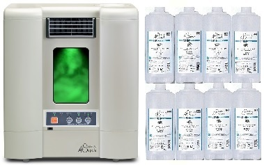 森林浴成分フィトンチッド拡散機PC560WTホワイト(最高級エキスパート溶液合計8本のスペシャルセット)