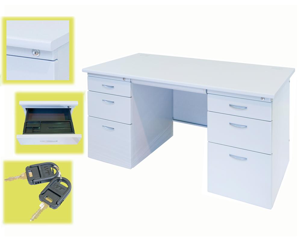 両袖机 事務机 両袖デスク 事務デスク W1400 オフィスデスク 品質保証 スチールデスク H700 D700 祝開店大放出セール開催中 両袖
