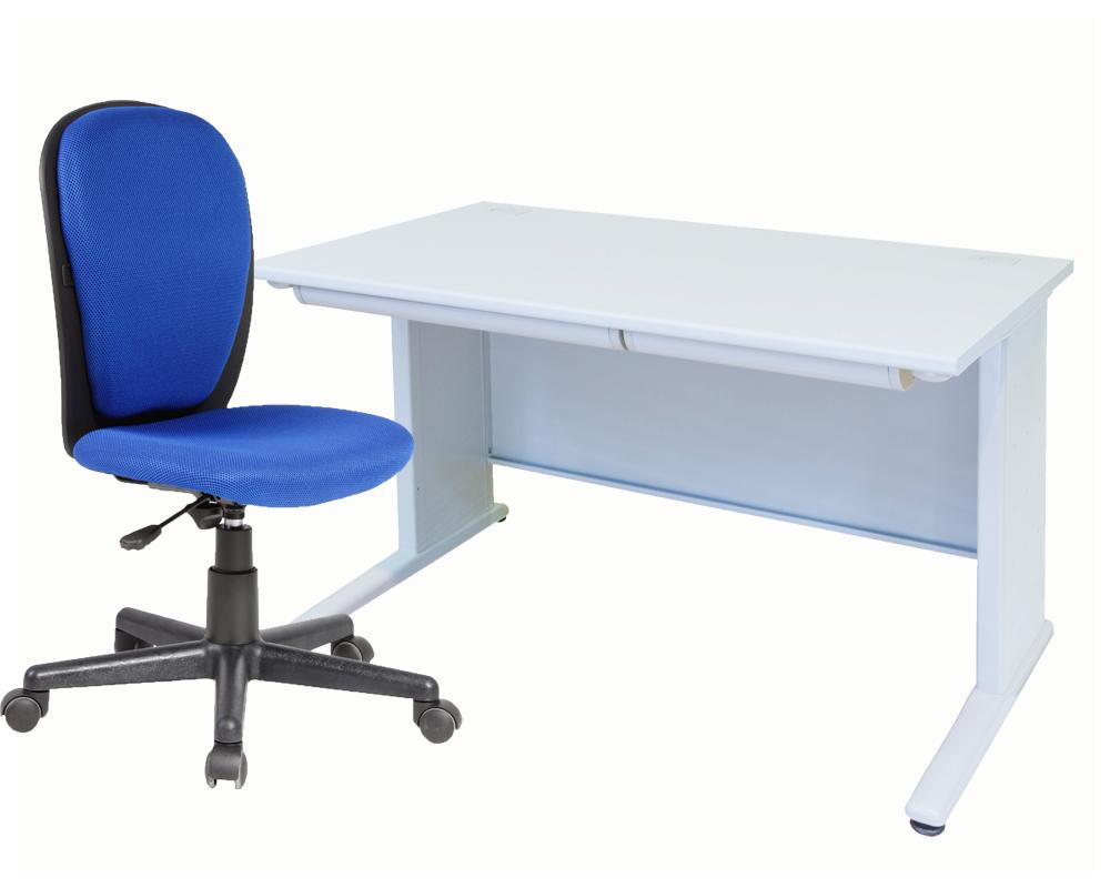 事務机 平机W1200とハイバックOAチェアのセット商品 事務机と事務椅子のセット