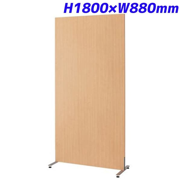 KOEKI 自立パネル 両面木目タイプ H1800×W880×D400mm SKN-1809SK [薄橙色 自然色 パネル パーティション 仕切り 間仕切り 目隠し パーテーション 衝立 ついたて 事務所 会議 打ち合わせ ボード オフィス用品 オフィス用 オフィス家具]