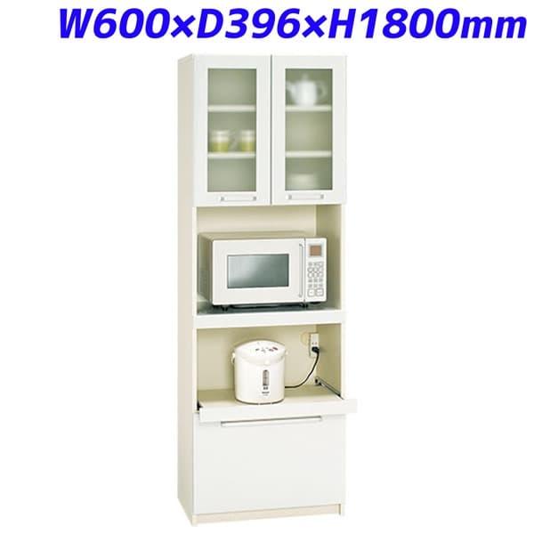 パモウナ 家電収納 食器棚 ダイニングボード W600×D396×H1800mm YC-S600R [収納家具 オフィス家具 オフィス用 オフィス用品 オフィス収納]