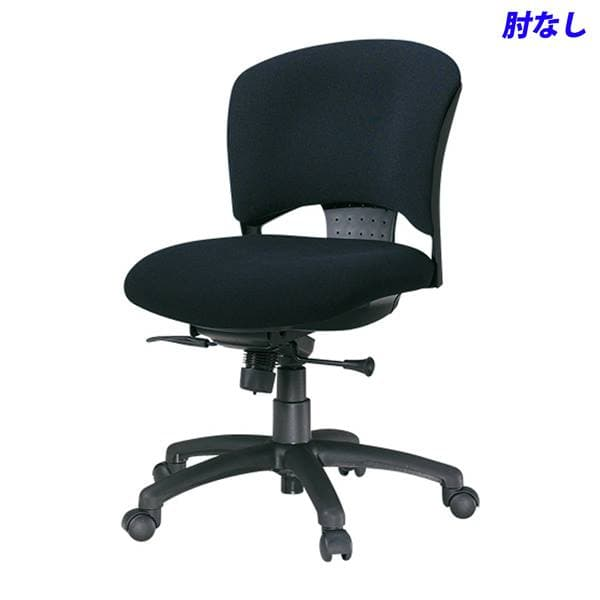 ジョインテックス 事務用チェア 肘なし ブラック ZC10-C501J [黒色 いす オフィスチェア 事務用チェア オフィス用品 オフィス用 オフィス家具 チェア 椅子 イス 事務椅子 デスクチェア パソコンチェア]