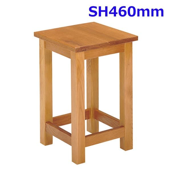 第一工業 角イス 側板なし SH460mm S-114-N H460 [学校 木製 学童用品 技術室用 美術室用 家庭科室用 角材チェア 角椅子 角材椅子 木製チェア スツール チェア 作業用椅子 作業椅子 オフィス家具 オフィス用 オフィス用品 図面]
