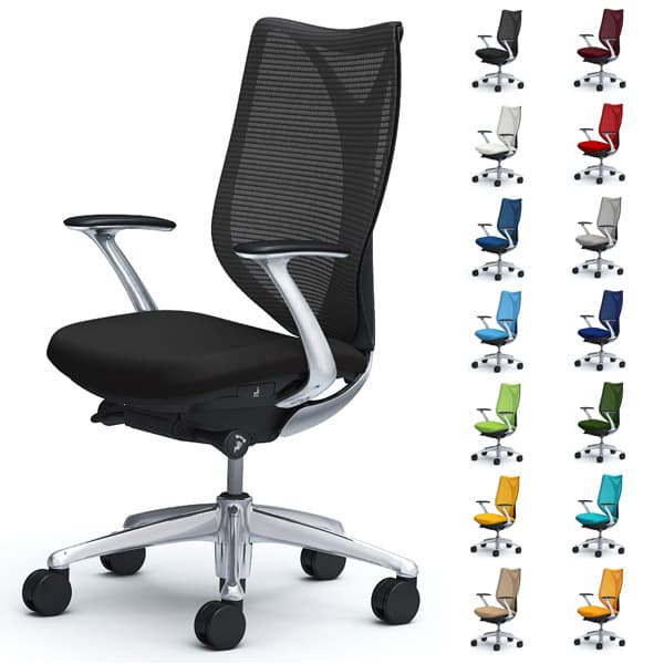オカムラ チェア Sabrina(サブリナ) スタンダード ハイバック デザインアーム ブラックボディ ハンガー無し ランバー無し C843BR [オフィスチェア 事務用チェア オフィス家具 チェア 椅子 イス 事務椅子 デスクチェア パソコンチェア]