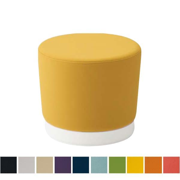 オカムラ チェア mellow(メロウ) ロースツール(キャスターなし)ホワイト丸型 プレーン [オフィスチェア スツール 背もたれなし 事務用チェア オフィス家具 チェア 椅子 イス 事務椅子 デスクチェア パソコンチェア]