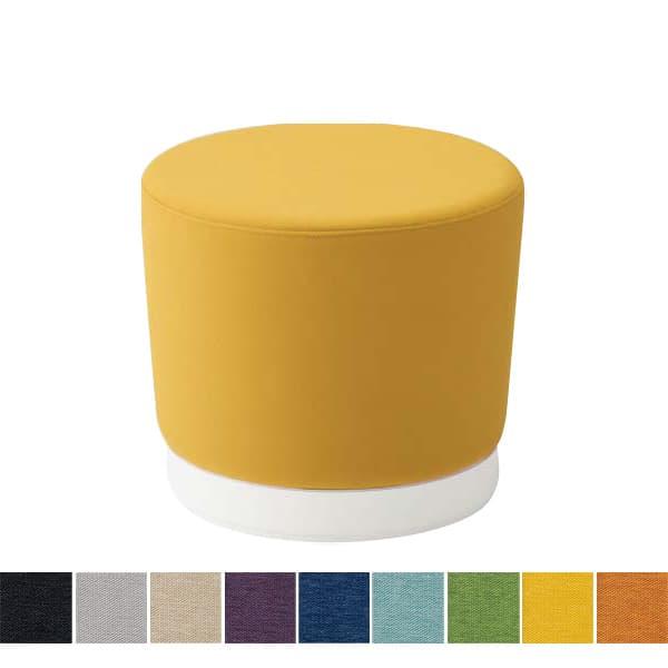 オカムラ チェア mellow(メロウ) ロースツール(キャスターあり)ホワイト丸型 ミックス地 [オフィスチェア スツール 背もたれなし 事務用チェア オフィス家具 チェア 椅子 イス 事務椅子 デスクチェア パソコンチェア]
