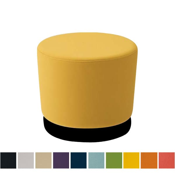 オカムラ チェア mellow(メロウ) ロースツール(キャスターなし)ブラック丸型 プレーン [オフィスチェア スツール 背もたれなし 事務用チェア オフィス家具 チェア 椅子 イス 事務椅子 デスクチェア パソコンチェア]