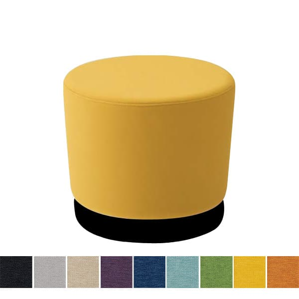オカムラ チェア mellow(メロウ) ロースツール(キャスターなし)ブラック丸型 ミックス地 [オフィスチェア スツール 背もたれなし 事務用チェア オフィス家具 チェア 椅子 イス 事務椅子 デスクチェア パソコンチェア]