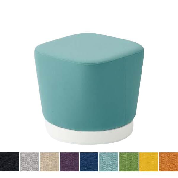 オカムラ チェア mellow(メロウ) ロースツール(キャスターなし)ホワイト四角 ミックス地 [オフィスチェア スツール 背もたれなし 事務用チェア オフィス家具 チェア 椅子 イス 事務椅子 デスクチェア パソコンチェア]