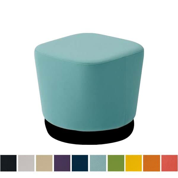 オカムラ チェア mellow(メロウ) ロースツール(キャスターなし)ブラック四角 プレーン [オフィスチェア スツール 背もたれなし 事務用チェア オフィス家具 チェア 椅子 イス 事務椅子 デスクチェア パソコンチェア]