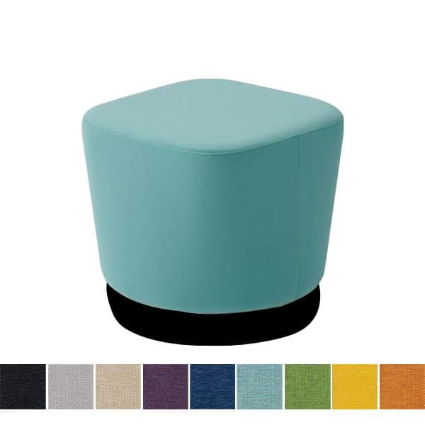 オカムラ チェア mellow(メロウ) ロースツール(キャスターなし)ブラック四角 ミックス地 [オフィスチェア スツール 背もたれなし 事務用チェア オフィス家具 チェア 椅子 イス 事務椅子 デスクチェア パソコンチェア]