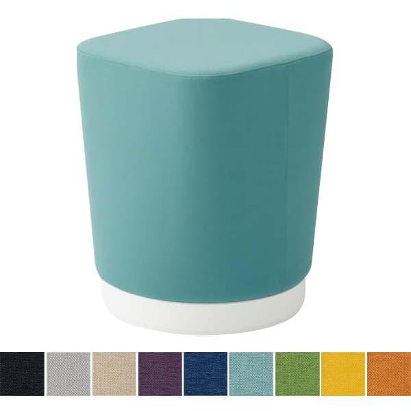 オカムラ チェア mellow(メロウ) ハイスツール(キャスターなし)ホワイト四角 ミックス地 [オフィスチェア スツール 背もたれなし 事務用チェア オフィス家具 チェア 椅子 イス 事務椅子 デスクチェア パソコンチェア]