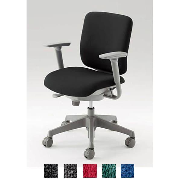 オカムラ チェア CG-R(シージーアール) ミディアムグレーシェル ローバックタイプ 布張り アジャストアーム [オフィスチェア 事務用チェア オフィス家具 チェア 椅子 イス 事務椅子 デスクチェア パソコンチェア]