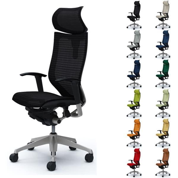 【受注生産品】オカムラ チェア Baron(バロン) エクストラハイバック可動ヘッドレストタイプ シルバーフレーム 可動肘 座メッシュ CP81CR [オフィスチェア 事務用チェア オフィス家具 チェア 椅子 イス 事務椅子 デスクチェア パソコンチェア 高機能 バロン]