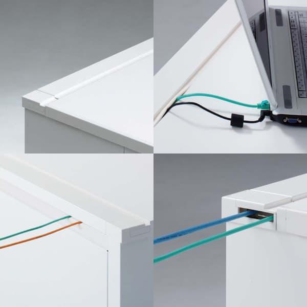 オカムラデスクADVANCE(アドバンス)平机パネル脚タイプ中央引出付標準タイプ3V20EK