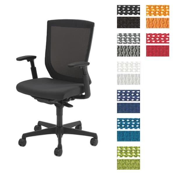 オカムラ チェア ESCUDO(エスクード) mesh (メッシュタイプ) ブラックシェル ハイバック アジャストアーム ハイタイプ 双輪キャスター ランバーサポート付き [オフィスチェア 事務用チェア オフィス家具 チェア 椅子 イス デスクチェア パソコンチェア]