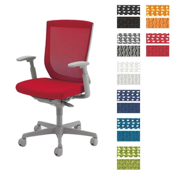 オカムラ チェア ESCUDO(エスクード) mesh (メッシュタイプ) グレーシェル ハイバック アジャストアーム ハイタイプ 双輪キャスター ランバーサポート付き [オフィスチェア 事務用チェア オフィス家具 チェア 椅子 イス デスクチェア パソコンチェア]