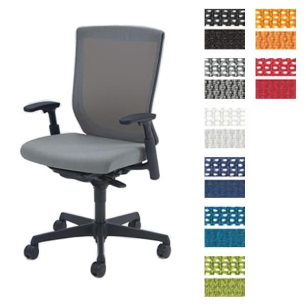 オカムラ チェア ESCUDO(エスクード) mesh (メッシュタイプ) ブラックシェル ハイバック アジャストアーム ウレタンキャスター ハンガー付き [オフィスチェア 事務用チェア オフィス家具 チェア 椅子 イス 事務椅子 デスクチェア パソコンチェア 高機能]