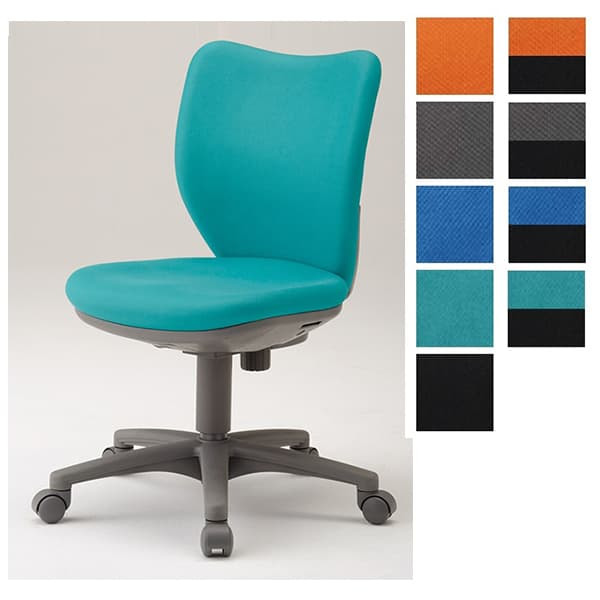 アイリスチトセ オフィスチェア オフィス回転チェア BIT-Xシリーズ ローバックタイプ 肘なし BIT-X45L0-F [事務用チェア オフィス家具 チェア 椅子 イス 事務椅子 デスクチェア パソコンチェア スタンダード 高機能]