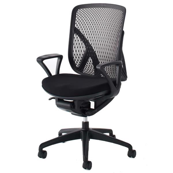 生興 イエラチェアー ハイバック リング肘タイプ メッシュタイプ SV-0041 [黒色 オフィスチェア 事務用チェア オフィス用品 オフィス用 オフィス家具 チェア 椅子 イス 事務椅子 デスクチェア パソコンチェア 高機能]