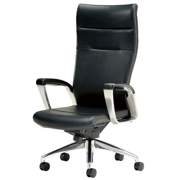 生興 エグゼクティブ用チェアー SMIシリーズ ハイバック 本革張り SMI-H8K [オフィスチェア エグゼクティブチェア 事務用チェア オフィス用品 オフィス用 オフィス家具 チェア 椅子 イス 事務椅子 デスクチェア パソコンチェア]
