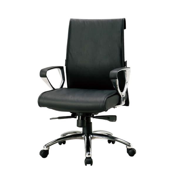 生興 エグゼクティブ用チェアー M-1800シリーズ 革張り(一部ビニールレザー張り) M-N1800LLB [オフィスチェア エグゼクティブチェア 事務用チェア オフィス家具 チェア 椅子 イス 事務椅子 デスクチェア パソコンチェア]