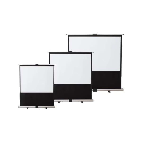 生興 フロアスクリーン ケース一体型 スクリーン寸法/W1620×H1220 収納時寸法/W1794×D160×H145 80インチ KPR-80 [オフィス家具 オフィス用 オフィス用品 フロアースクリーン]