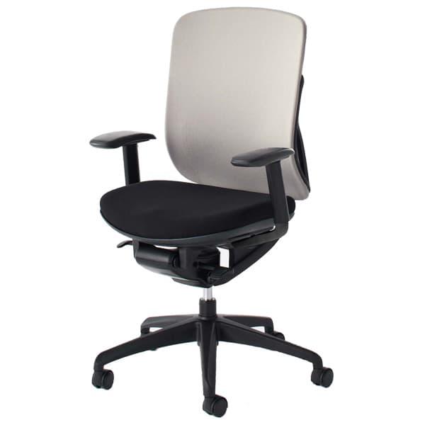 生興 イエラチェアー ハイバック アジャスタブル肘タイプ クロスカバータイプ SV-106 [黒色 オフィスチェア 事務用チェア オフィス用品 オフィス用 オフィス家具 チェア 椅子 イス 事務椅子 デスクチェア パソコンチェア 高機能]