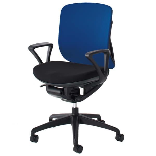 生興 イエラチェアー ローバック リング肘タイプ クロスカバータイプ SV-105 [黒色 オフィスチェア 事務用チェア オフィス用品 オフィス用 オフィス家具 チェア 椅子 イス 事務椅子 デスクチェア パソコンチェア 高機能]