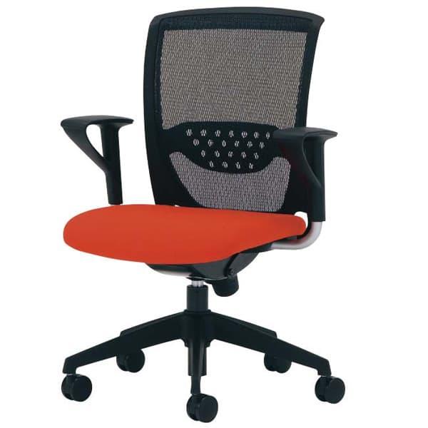 【受注生産品】生興 ルルティモチェアー 背メッシュタイプ 肘付 LLM-6A [オフィスチェア 事務用チェア オフィス用品 オフィス用 オフィス家具 チェア 椅子 イス 事務椅子 デスクチェア パソコンチェア 高機能]