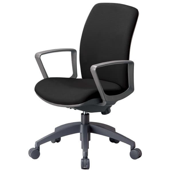 生興 OA-2100シリーズ 背ロッキングタイプ ミドルバック サークル肘付 OA-2135BF [オフィスチェア 事務用チェア オフィス用品 オフィス用 オフィス家具 チェア 椅子 イス 事務椅子 デスクチェア パソコンチェア 高機能]