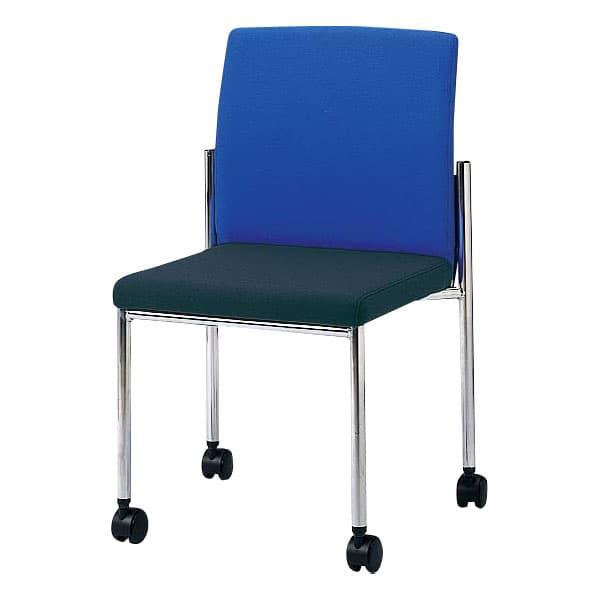 生興 ミーティングチェアー MC-24シリーズ 肘付 4本脚 メッキ脚 布張り MC-4AM [会議イス ミーティングチェア 学校 体育館 公民館 チェア いす 椅子 集会場 業務用 会議用椅子 会議椅子 会議室 オフィス家具]